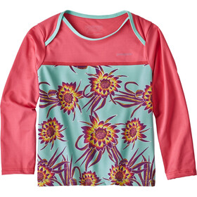 Patagonia Little Sol - Camiseta de manga larga Niños - rojo/Multicolor